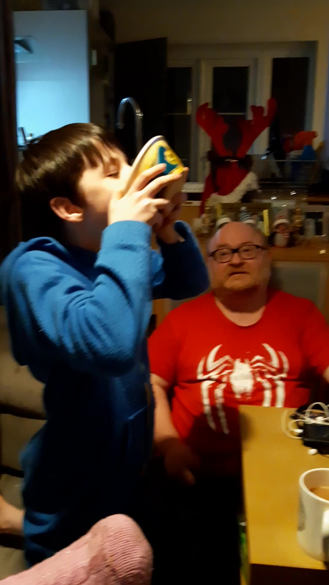 Josh stuffing his face